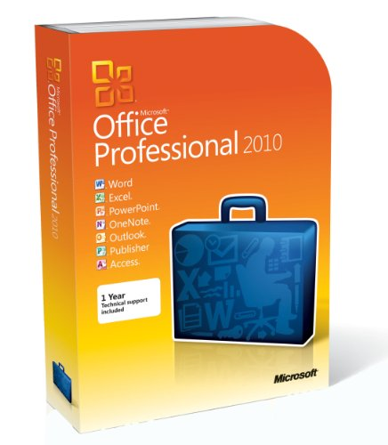 Microsoft Office Professional 2010 - 1 User/2 PC (Disc Version)