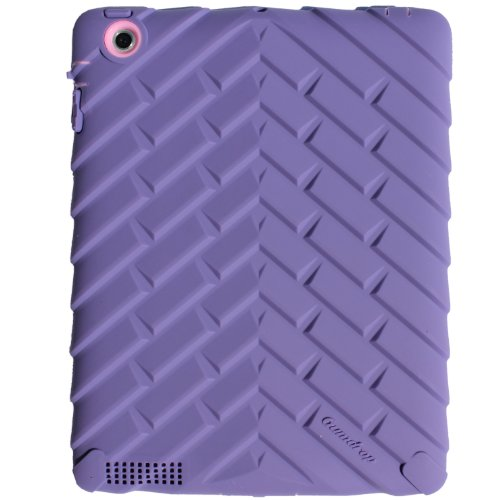 Gumdrop Cases Drop Tech Series Case for Apple iPad 4, iPad 3 and iPad 2, Designer Series - Purple/Pink (DS-IPAD3-PUR-PNK)
