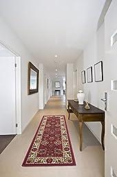 Ottomanson Otto Home Traditional Floral Design Modern Runner Rug Hallway Runner, 31\