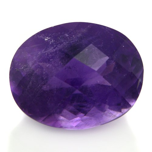 Natural Africa Purple Amethyst Loose Gemstone Oval Cut 9*12mm 4.80cts SI Grade