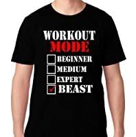 FTD Apparel Men's Workout Mode: Beast Motivation T Shirt