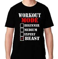FTD Apparel Men's Workout Mode: Beast Motivation T Shirt