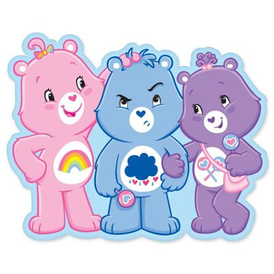 """Care Bears Three Bears Together Vynil Car Sticker 5"""" X 4"""" front-644441"""