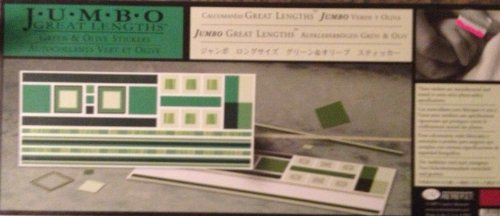 Jumbo Great Lengths Stickers: GREEN & OLIVE