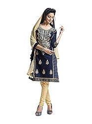 RK Fashion Womens Cotton Un-Stitched Salwar Suit Dupatta Material ( RAJGURU-PAHELI-9286-Blue-Free Size )