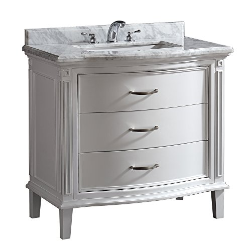 Sophie Vanity Sink With Marble Countertop And Ceramic Basin White 40 Inch Bathroom Hardware Dire
