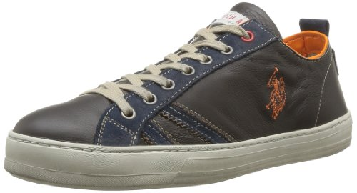 US Polo Assn Mens Flex Leather Lace-Up Flats