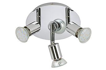 Lampadario con 3 faretti LED 3W 250lm direzionali design casa bagno ...