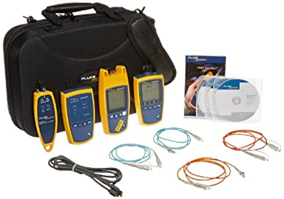 Fluke Networks FTS1000 Fiber QuickMap Troubleshooter Kit with Test Reference Cords for Both SC/SC and SC/LC