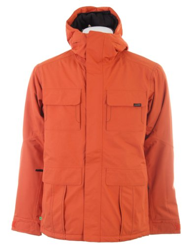 Planet Earth Men's Lieutenant Jacket Insulated,Heatwave Orange,Large