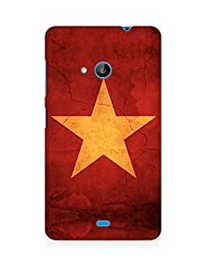 Amez designer printed 3d premium high quality back case cover for Microsoft Lumia 535 (Star surface paint)