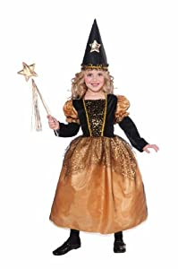 Forum Novelties Golden Star Sorceress Witch Child Costume