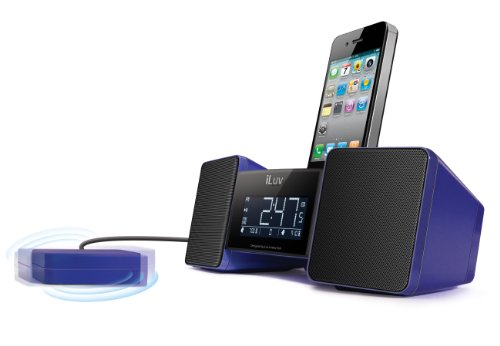 iLuv Vibro II Alarm Clock 30-Pin Speaker Dock with Bed Shaker (Blue) (Discontinued by Manufacturer) (Iluv Vibro Ii compare prices)