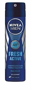 Nivea Men Deo Fresh Active Spray, ohne Aluminium, 4er Pack (4 x 150 ml)