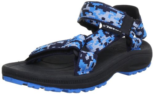 Teva Hurricane 2 C's Sandals Unisex-Child Blue Blau (camo blue 756) Size: 27