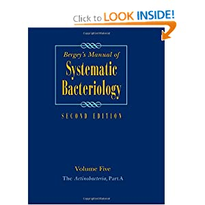 Bergeys Manual Of Systematic Bacteriology Volume 5 The
