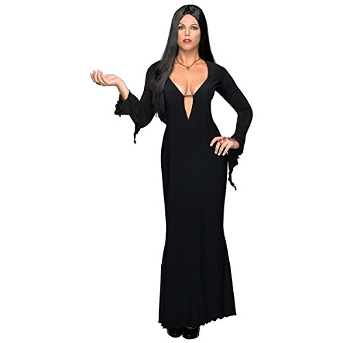 [GSG Plus Size Morticia Costume Adult Addams Family Vampire Halloween Fancy Dress] (Plus Size Dark Mad Hatter Costume)