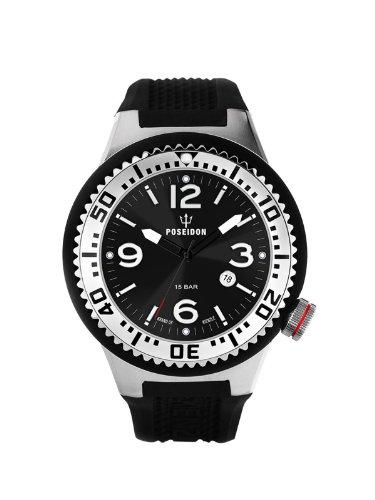 Kienzle K2093013023-00398 - Reloj analógico de cuarzo para hombre con correa de silicona, color negro