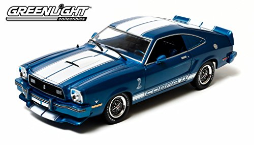1976 Ford Mustang II Cobra II Blue with White Stripes 1/18 by Greenlight 12894 (Ford Mustang Ii compare prices)