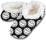 New Snoozies Volleyball Slippers - Black - Size: Adult Medium 7-8