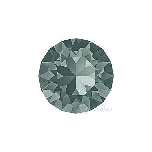 BLACK DIAMOND (215) Swarovski 1088 XIRIUS Chaton Round Stones pointed back rhinestones ss39 (8.16 - 8.41 mm) 18 pcs (1/8 gross) *FREE Shipping from Mychobos (Crystal-Wholesale)*