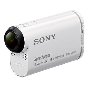Sony HDR-AS100V Ultra-kompakter Action-Camcorder mit Profi-Features (Full HD, Ultra Weitwinkelaufnahmen, Bildstabilisator, GPS, WiFi/NFC integriert, Foto-Intervallaufnahmen), weiß