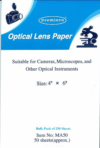 Dust Free Optical Lens Paper - Pack Of 250 4 X 6 Sheets