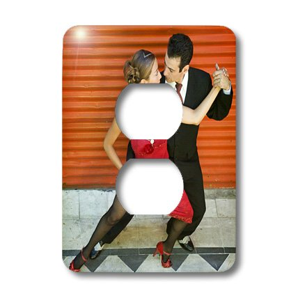 Lsp_85200_6 Danita Delimont - Argentina - Argentina, Buenos Aires, La Boca. Tango Dancing - Sa01 Bja0005 - Jaynes Gallery - Light Switch Covers - 2 Plug Outlet Cover