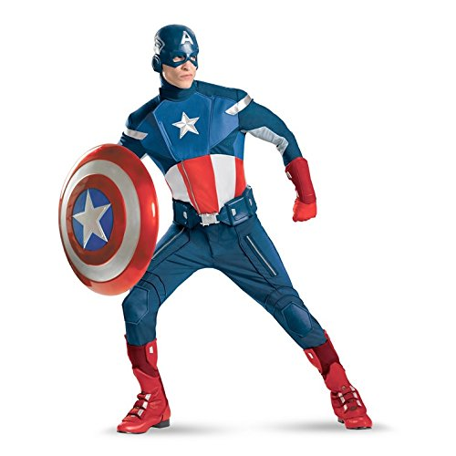The Avengers Captain America Theatrical Adult Costume Size:XXL (50-52)