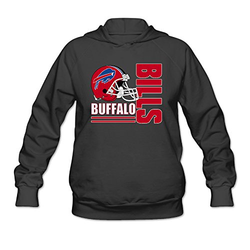 [DVPHQ Women's Funny Buffalo Logo Bills Hoodie Size XL Black] (Buffalo Bob Costume)