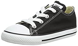 Converse Kids Unisex Chuck Taylor® All Star® Core Ox (Infant/Toddler) Classic Black Sneaker 5 Toddler M