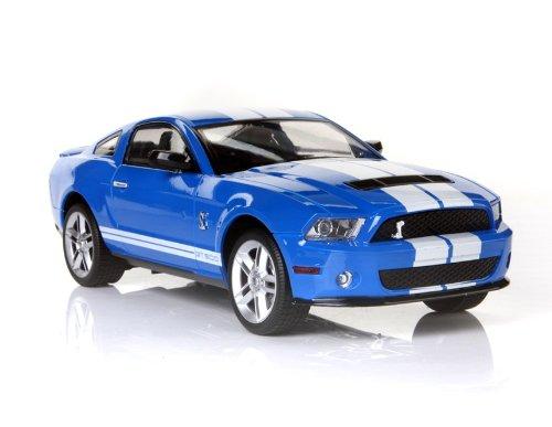 KAM CHUN 6618-956E Ford GT500 1:16 4Channel R/C Radio Control Licensed Racing Car (Blue)