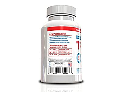Testosterone Booster For Men- T-250, 120 Capsules, 30 Day Supply, Muscle Builder for Men All In One Supplement, Testosterone Booster For Men, Fat Burner For Men, Nitric Oxide For Men, Lose Your Gut, Full Body Muscle, Blast Your Biceps, Helps Get Powerful