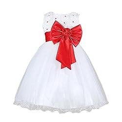 Rosennie 2016 Kids Girls Pageant Wedding Birthday Party Princess Bridesmaid Dress