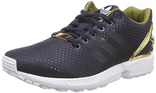 adidas OriginalsZX Flux - Scarpe Running Donna , Nero (Schwarz (Legend Ink S10/Legend Ink S10/Gold Met.)), 40 2/3