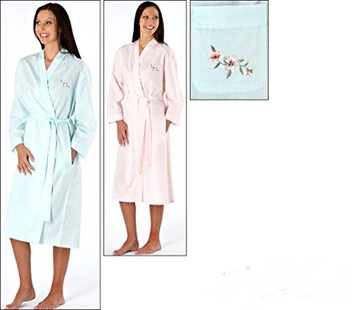 Ladies Lightweight Poly/Cotton Dressing Gown Summer Robe Kimomo Wrap ...