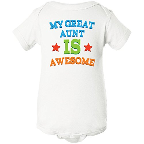 Inktastic Unisex Baby My Great Aunt Is Awesome Infant Creeper 6 Months White