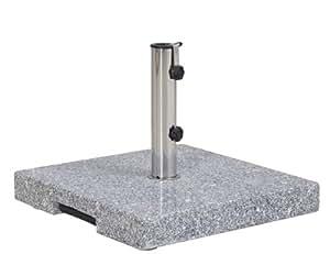 Siena Garden 431526 Granit pour Mâts de Parasol Gris 25 x 48 mm