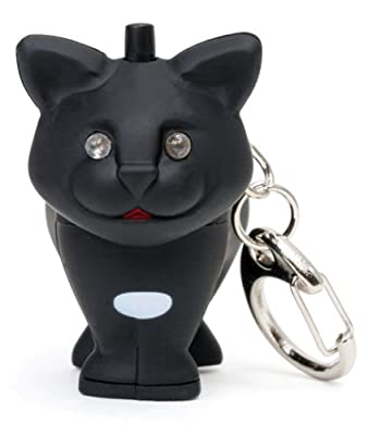"Cat LED Keychain - with ""Meow"" sound & eyes that light up"