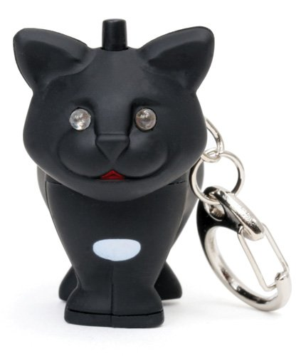Kikkerland KRL21TC Cat LED Keychain with Sound
