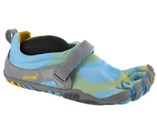 Vibram FiveFingers Men's 'Bikila' Water Shoes,Sky Blue/Yellow/Grey,EU 45