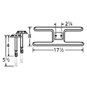 70201 Acero inoxidable Quemador de Gas Grill Modelo Roper 1158000