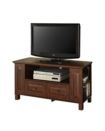 Walker Edison Wood TV Stand Console, Brown
