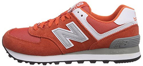 888546369627 - New Balance Men's ML574 Picnic Pack Collection Classic Running Shoe, Orange/Silver, 7 D US carousel main 4