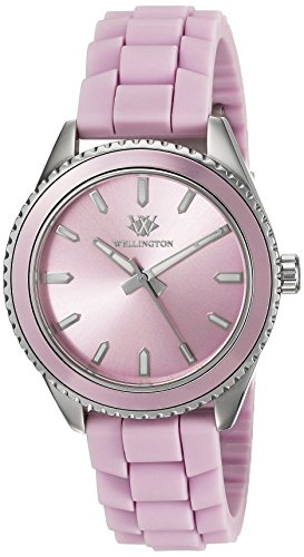 Wellington Karamea Women's Quartz Watch with Pink Dial Analogue Display and Pink Silicone Strap WN508-168