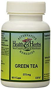 Alternative Health & Herbs Remedies Green Tea Capsules, 60-Count Bottle (Pack of 2)