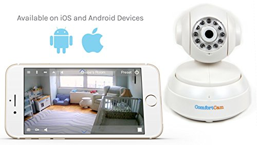 ComfortCam Pro HD Baby Monitor - Remote Viewing Baby Camera via WiFi, Secure Stream to your Device (iPhone or Android), Stay Connected to Your Baby by ComfortCam