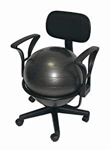 Deluxe Fitness Ball Chair in Black from AGM Group