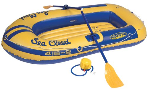 Stansport Sea Cloud Inflatable Vinyl Boat with Oars and Pump,2 Seat