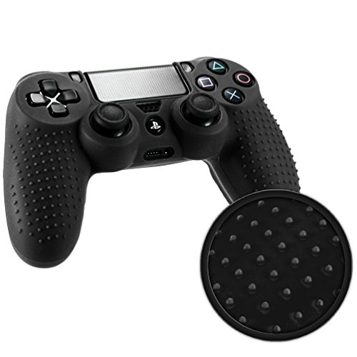 Playstation 4 STUDDED Controller Skin by Foamy Lizard ® ParticleGrip Premium Protective Anti-slip Silicone Grip Case Cover for PS4 Controller (Graviton - Black) (Ps4 Controller Case Cover compare prices)